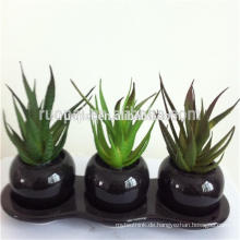 Günstige grüne Mini künstliche Sukkulenten mit Topf