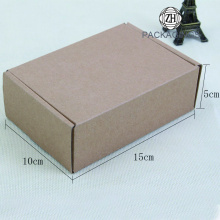 Small empty brown paper mailing box