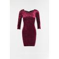 Ladies velvet dress with backless à vendre