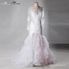 LZ163 Vestido De Noiva Wedding Dress Mermaid Two Color Wedding Dress Lace