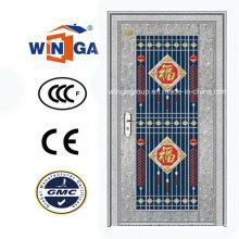 Exterior con puerta de vidrio de seguridad de acero inoxidable (W-GH-20)