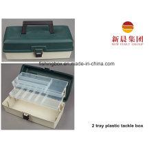 Зеленый цвет 2 лотка пластиковая коробка