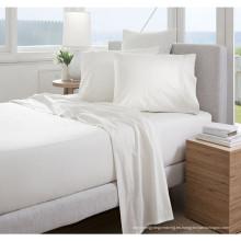 China al por mayor algodón ultra suave Hotel blanco cabido hoja (WSFI-2016012)