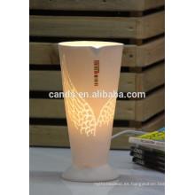 Lámparas de lectura decorativas de escritorio de cerámica blanca