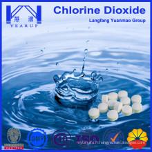Produits chimiques purificateurs d'eau de haute qualité Comprimés stables de dioxyde de chlore