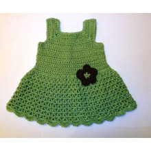 Green Baby Girls Crochet Dress