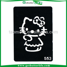 11*8cm Reusable Glitter Tattoos Stencils Hello Kitty Tattoo Designs of Cats