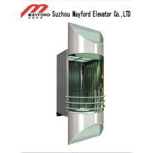 Ascenseur panoramique de 800 kg avec acier émaillé cuit