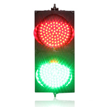 Luz verde conduzida verde vermelha do sinal de tráfego de 200mm mini