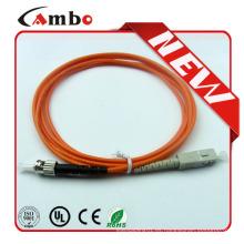 ST-SC Duplex Cable de conexión de fibra óptica