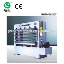 Venta caliente tablero de partículas de ciclo corto melamina laminación caliente máquina de la prensa