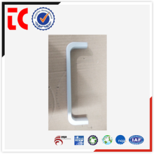 Silver custom made aluminum handle die casting parts