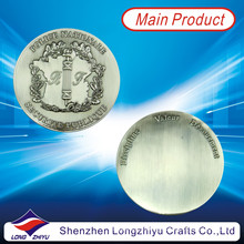 Antique Pewter Coin Shiny Blank Coin with Cheap Price (LZY1300042)
