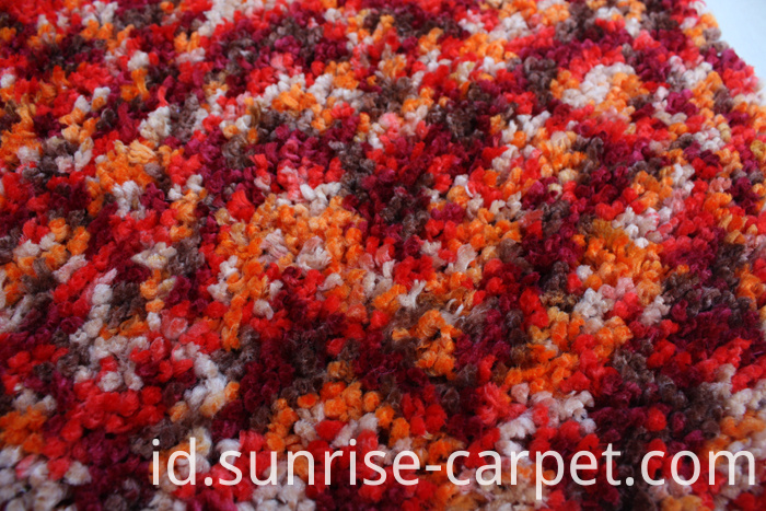 Polyester Rugs with spac dyed yarn orange