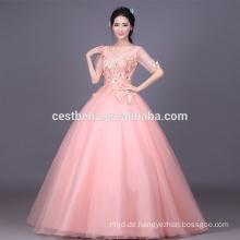 2017 nach Maß rosa Luxus sequined Kristall Rüsche Ballkleid Quinceanera Kleid formales Partykleid