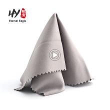 La taille adaptée aux besoins du client 15 * 15cm microfibre essuie le chiffon de nettoyage pour des verres