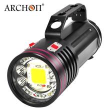 10000lumens Photographie sous-marine Light Underwater Diving Video Light Fashlight Torch