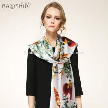 Nouveau!! Fashion Stylish Women Impression longue à l'épreuve des écharpes en soie Vente en gros châles et écharpes