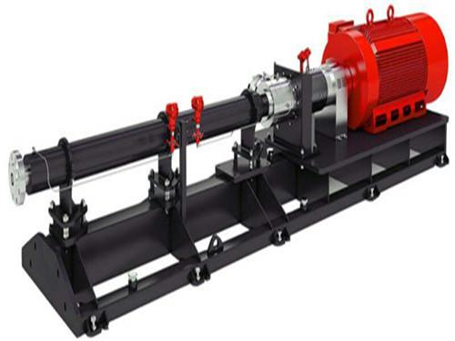 Vertical single screw rotor pump.