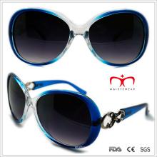 Plastik Damen Schmetterling Sonnenbrille mit Metall Dekoration (WSP508321)