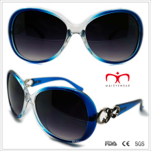 Gafas de sol de plástico mariposa señoras con decoración de metal (wsp508321)