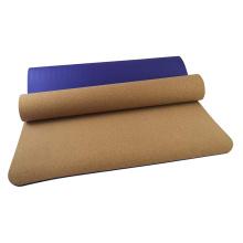 Yugland Custom Logo Printed Eco Friendly TPE Durable Non-slip Cork yoga mat heavy duty pilates mat wholesale