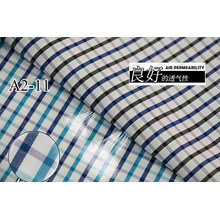 Turquesa/azul marino comprueba Chequer hilado teñido de tela de camiseta