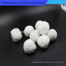 Manufactory raw white recycled polyester staple fiber ball