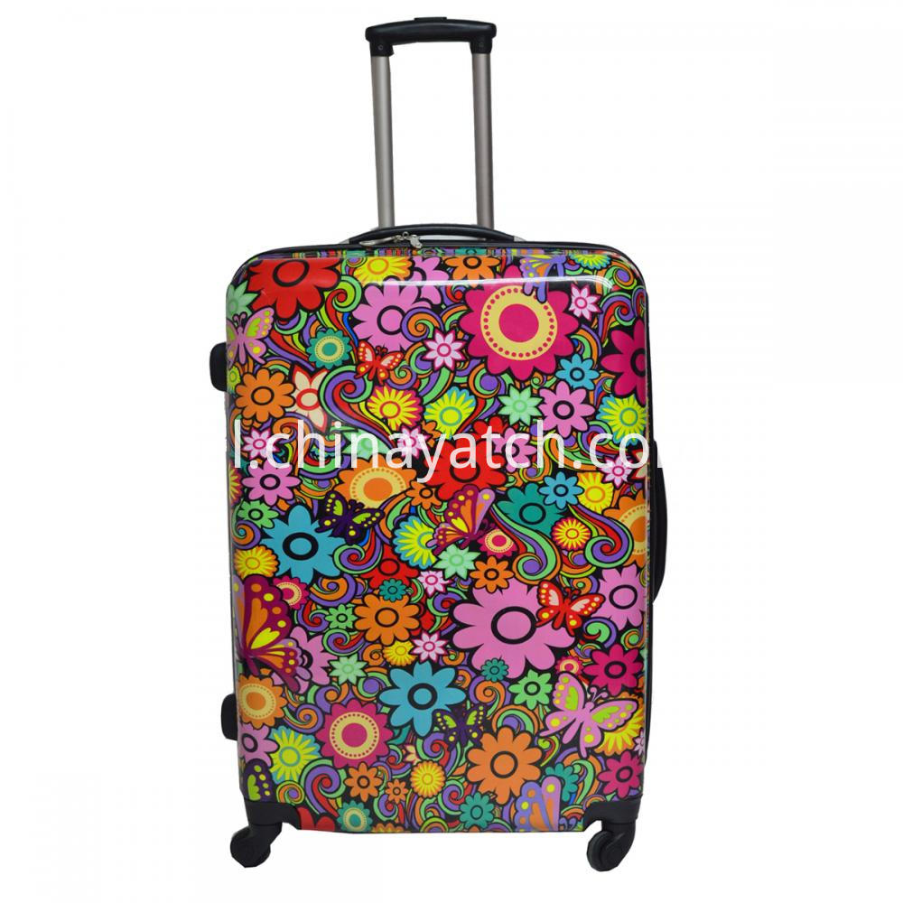 Flower Printing Luggage