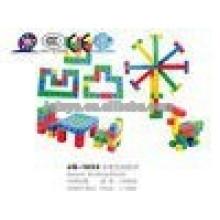 JQ1055 Crianças pré-escolar educacional plástico quadrado brinquedo bloco quebra-cabeça