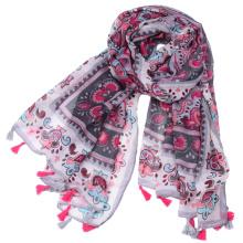 Fabricação de comércio exterior atacado impressão voile yiwu cachecol para as mulheres