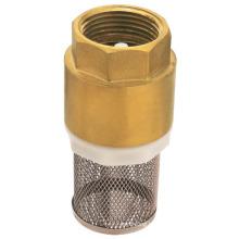 Válvula de retenção do filtro de mola de bronze