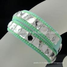 Bracelet de mode Crystal Diamond de première génération spécial 2016 pour filles BCR-020-8