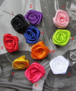 Accessories handmade flowers, ribbon roses flowers, for costumes, hair ornaments, hair bands accessories