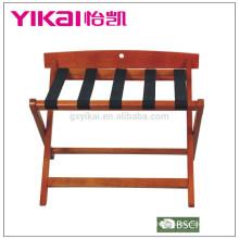 Estante de equipaje de madera maciza de venta superior
