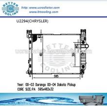 Radiador Para CHRYSLER DAKOTA PICKUP 00-04 OEM: 52028816AB Fabricante Venta caliente