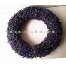 Китай искусственный круглый shaoe самшита венок для декора сада