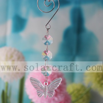 13.5CM Acrylic Plastic Crystal Chandelier Butterfly Pendant