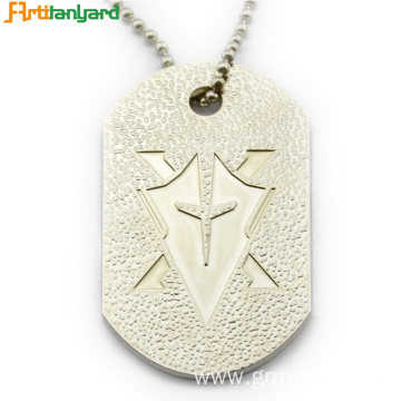 Men's Dog Tags With Embossed Logo