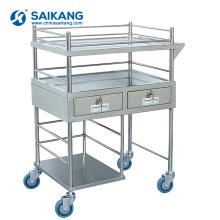 SKH028 Chariot de traitement d'anesthésie d'acier inoxydable avec le tiroir