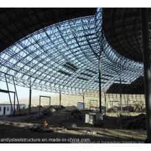 Estrutura de aço leve Estrutura espacial coberta com grande extensão para parque aquático