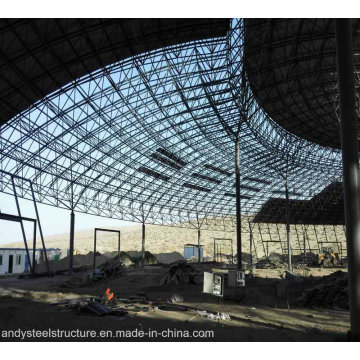 Легкая стальная конструкция Пространственная рамка для кровли с большим пространством для аквапарка