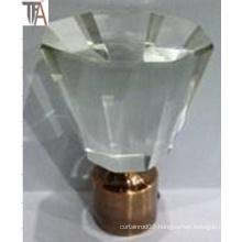 Crystal with Aluminium Curtain Cap