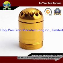 Yellow CNC Machined Aluminum Waterproof Pill Container Box