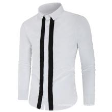 New Long Sleeve Cotton Stylish High Quality Males Social Shirts
