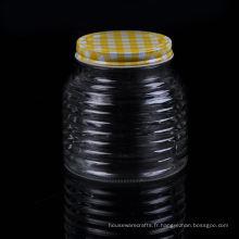 Pot en verre avec couvercle en étain