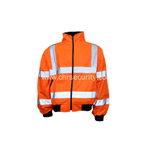 Reflective safety waterproof cotton jacket