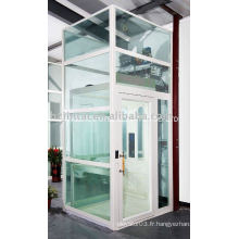 Petit ascenseur en verre extérieur facile à installer
