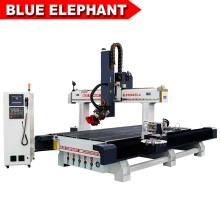 Carrousel type automatic 12 tools change spindle cnc for 3d 4d wood sculpture