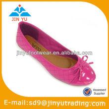 Knot decoration ladies leather shoes